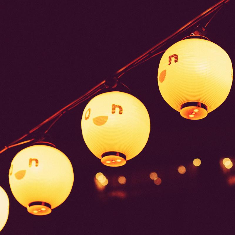 Lanterns in Hokkaido, Japan