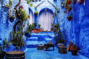 Blue houses in Morocco