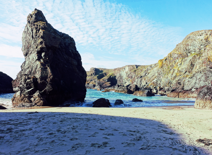 A beach in Cornwall - 20 Endangered Languages in 2020: 8. Cornish