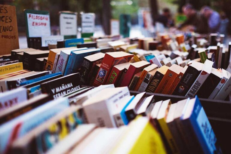 Books on sale outside
